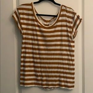 J crew short sleeved striped top